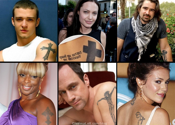 celebrity_cross_tattoo